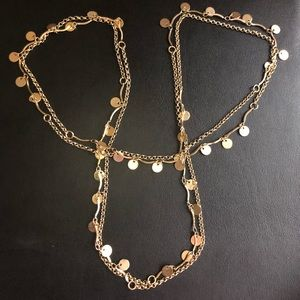 NWOT Moroccan Necklace/Belly Chain Goldtone